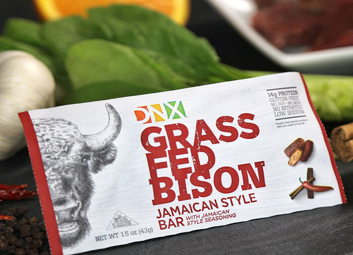 DNX Foods Grass Fed Bison Jamaican Style Bar