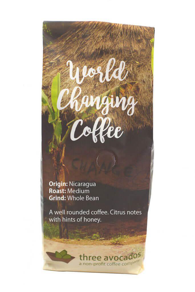 Three Avocados Inc Nicaragua Medium Whole Bean Coffee