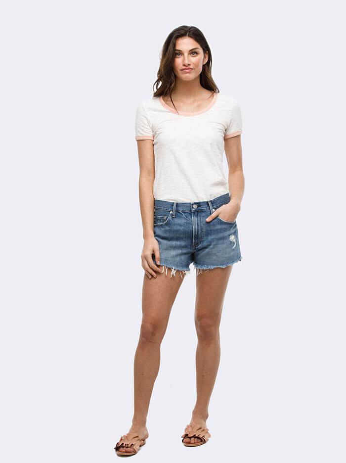 Able Cut-Off Judith Wash Jean Short