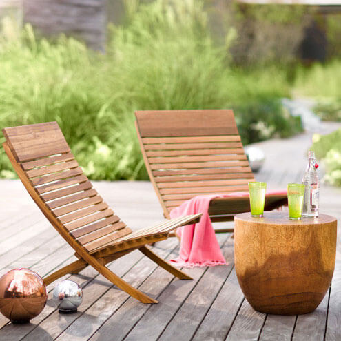 Viva TerraValencia Eucalyptus Chairs - 10 Best Eco-Friendly, Natural And Organic Outdoor Furniture And