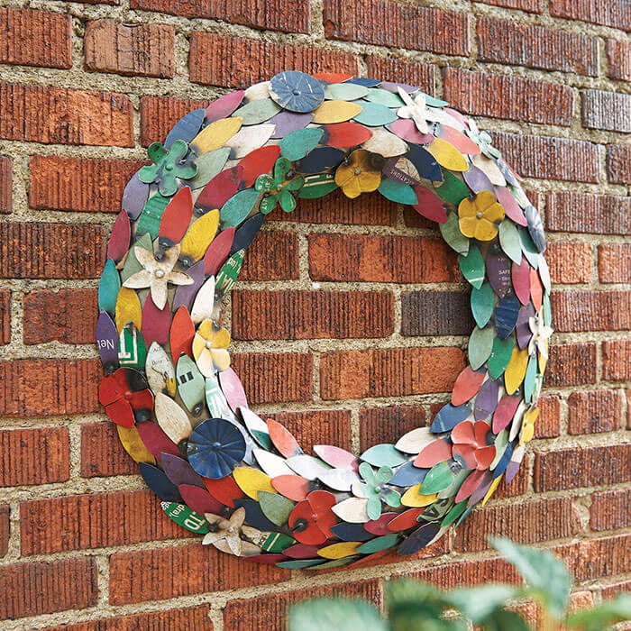 Art & Artifact Recycled Metal Wreath