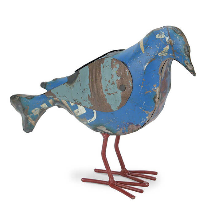 Foreside Home & Garden Recycled Metal Bird