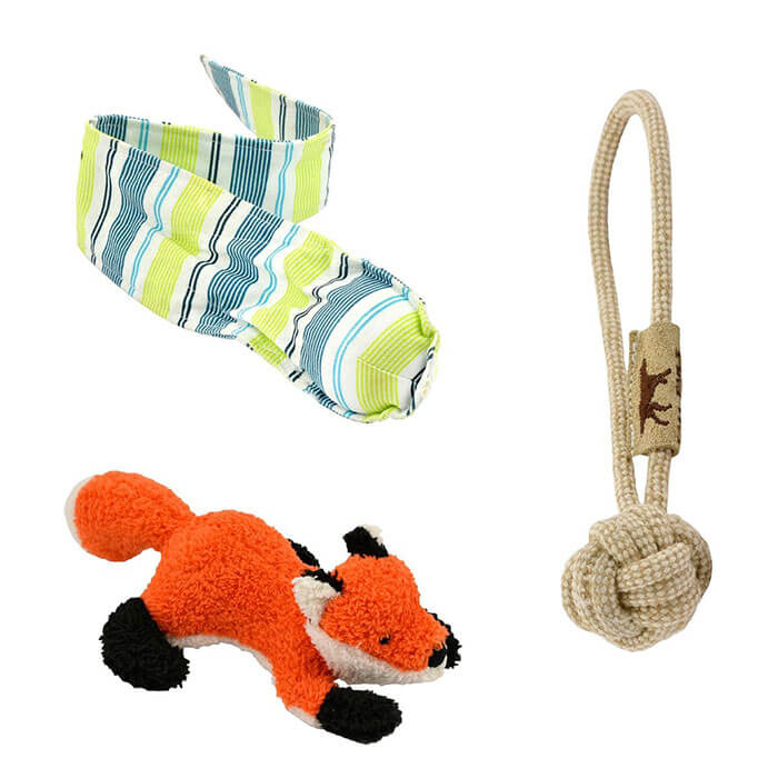 Tall Tails Fall Fetch, Tug & Squeak Toys