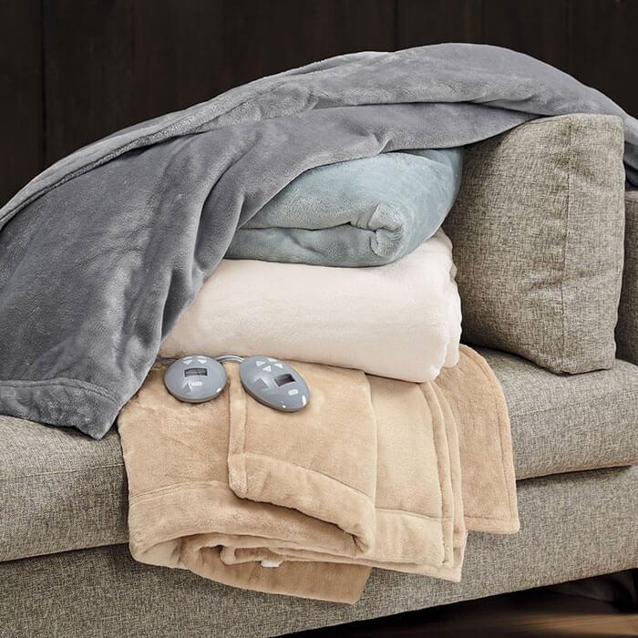 Cuddledown Plush Heated Blanket