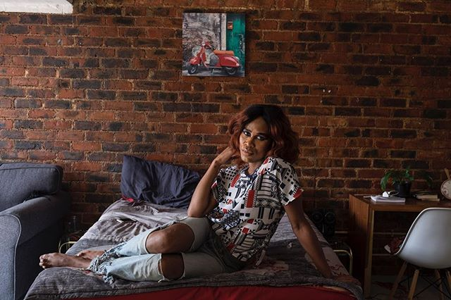 "Photo by Miora Rajaonary, @miorarajaonary: ""A portrait of ""Glow"" Makatsi, a trans woman living in Johannesburg, South Africa."" ▪️ Miora is a member of @womenphotograph and @nativphotograph and is based in Johannesburg, South Africa. To see more of her work, visit: www.miorarajaonary.photoshelter.com"
