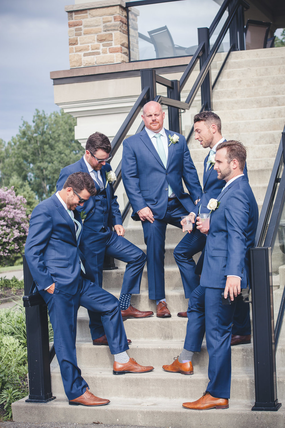 Groom- Groomsmen- Barrie Country Club Wedding Party