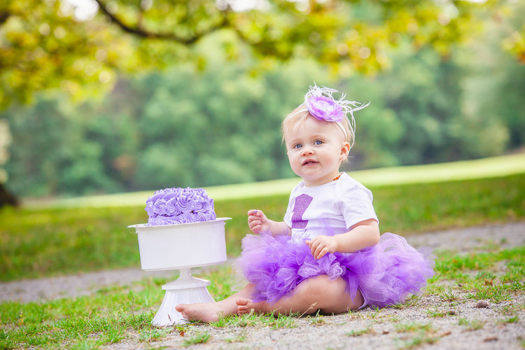 Purple Cake Smash Kennedy Family Wedding Photography Barrie Amy D