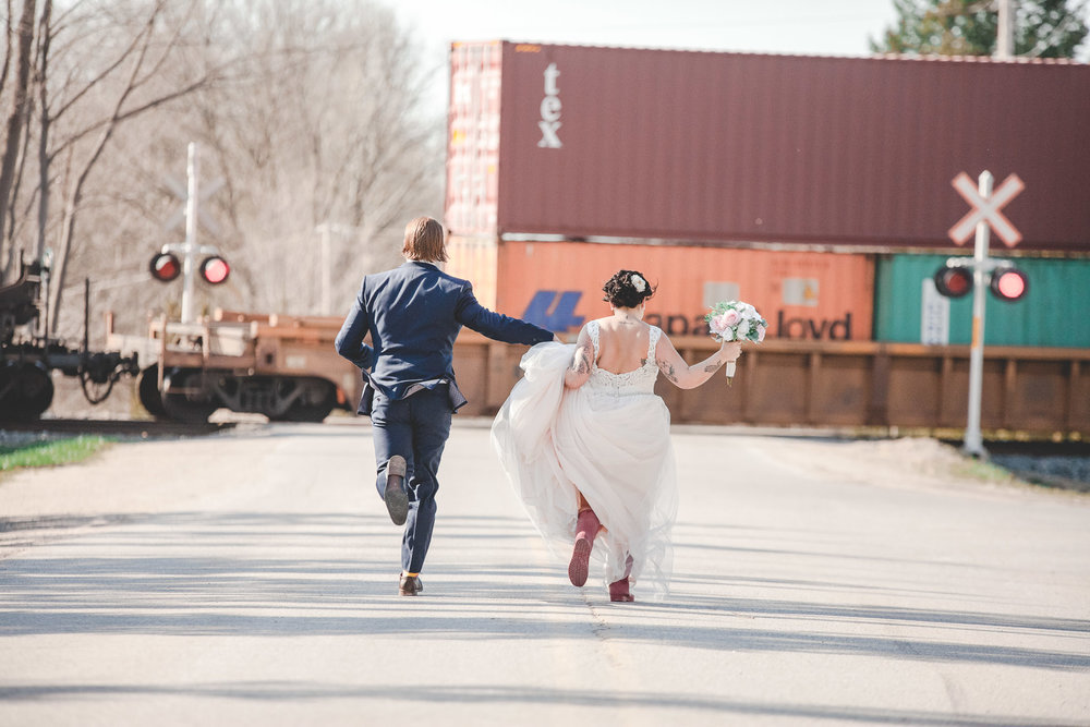 Amy D Photography- Bride and Groom-Barrie Wedding Photography Muskoka Wedding Photography Bride and Groom Poses Bride and Groom Train Tracks Snow Valley Wedding-8.jpg