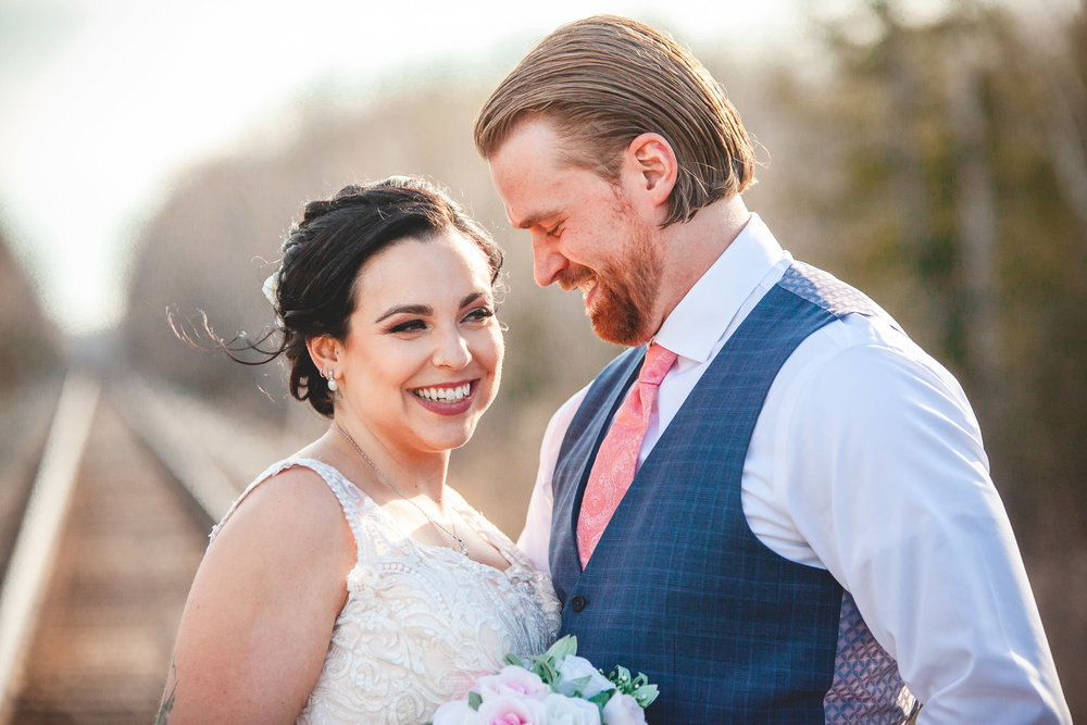 Amy D Photography- Bride and Groom-Barrie Wedding Photography Muskoka Wedding Photography Bride and Groom Poses Bride and Groom Train Tracks Snow Valley Wedding-36.jpg