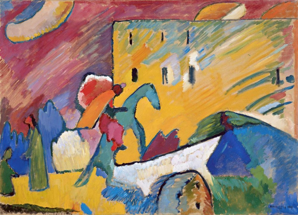 Improvisation 3, painted in 1909, oil on Canvas, 94 x 130 cm.
