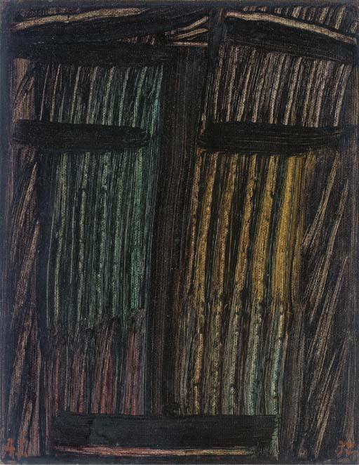 Alexej von Jawlensky   Grosse Meditation: Im Dickicht,  1937. Oil on paper,24.8 × 19.3 cm