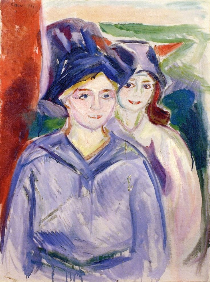 TWO MODELS Oil on Canvas, 1917 Hat Prediction Score 0.98097205
