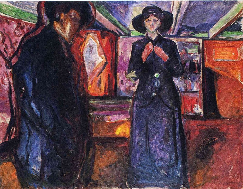 MAN AND WOMAN Oil on Canvas, 1913 Hat Prediction Score: 0.92588663