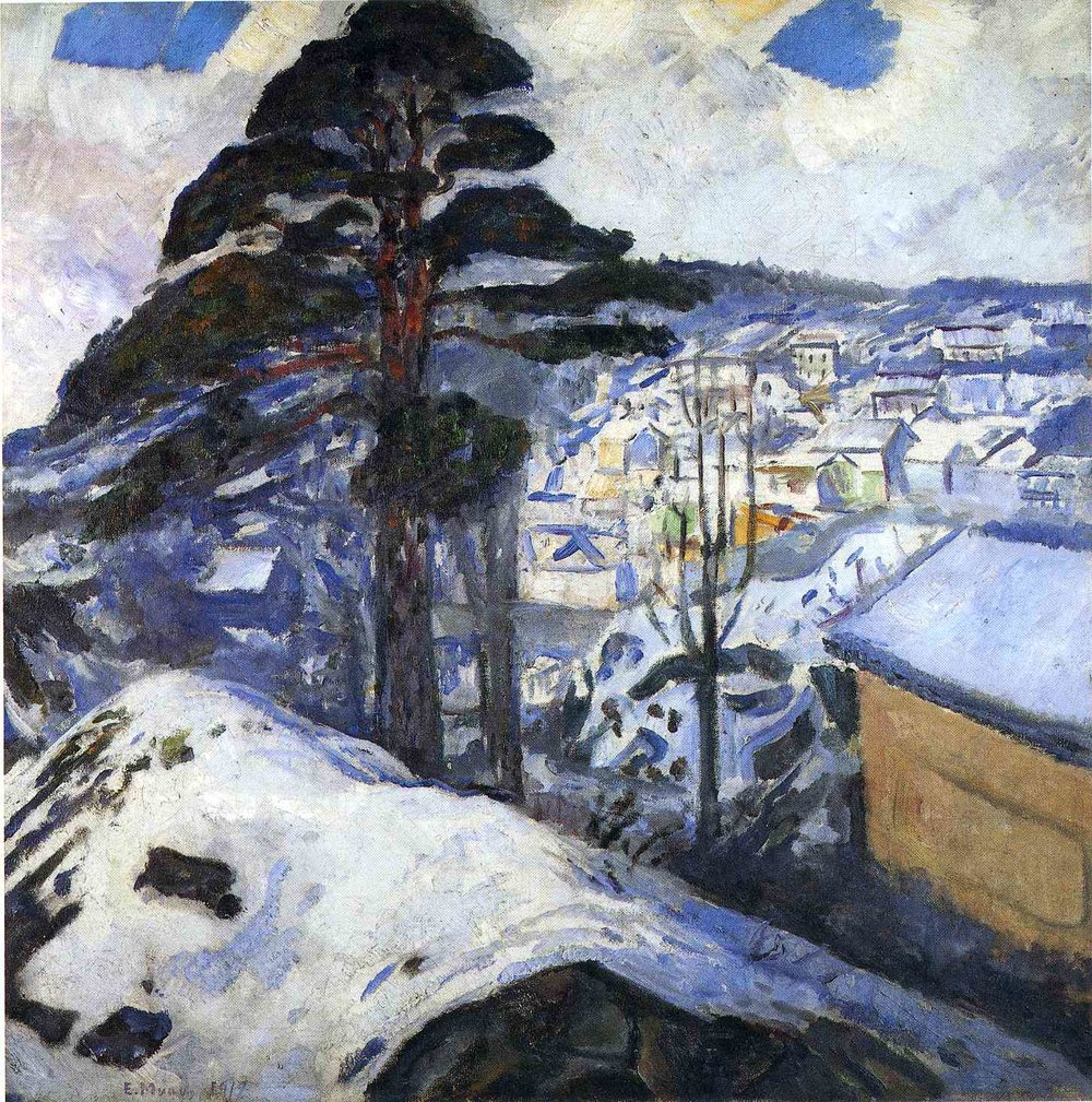 WINTER IN KRAGERO  Oil on Canvas, 1912 Snow Prediction Score: 0.8996801