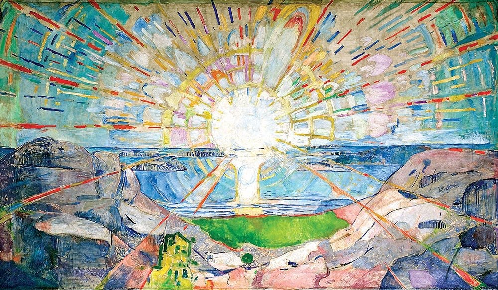 THE SUN Oil on Canvas 1911