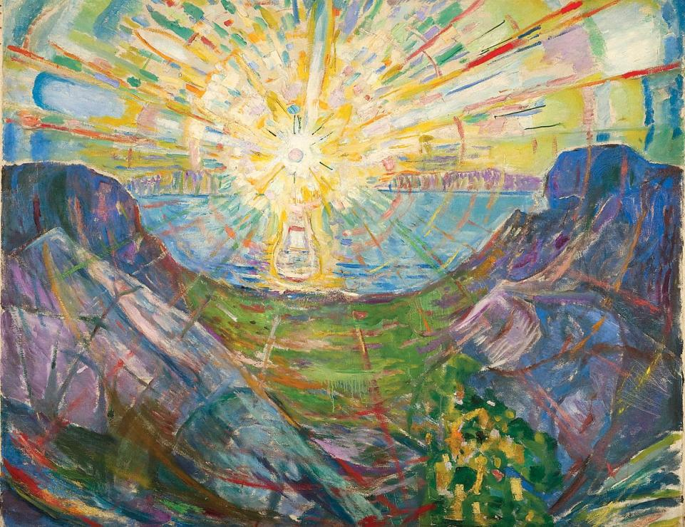THE SUN Oil on Canvas, 1910