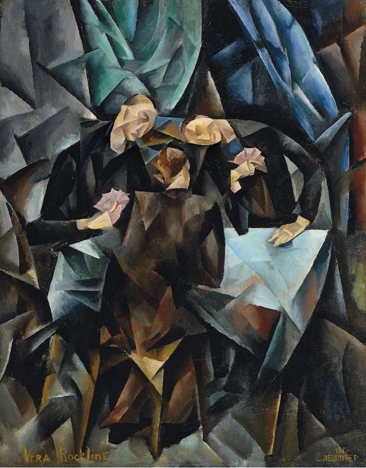Vera Rockline The Card Players, 1919 Oil on canvas