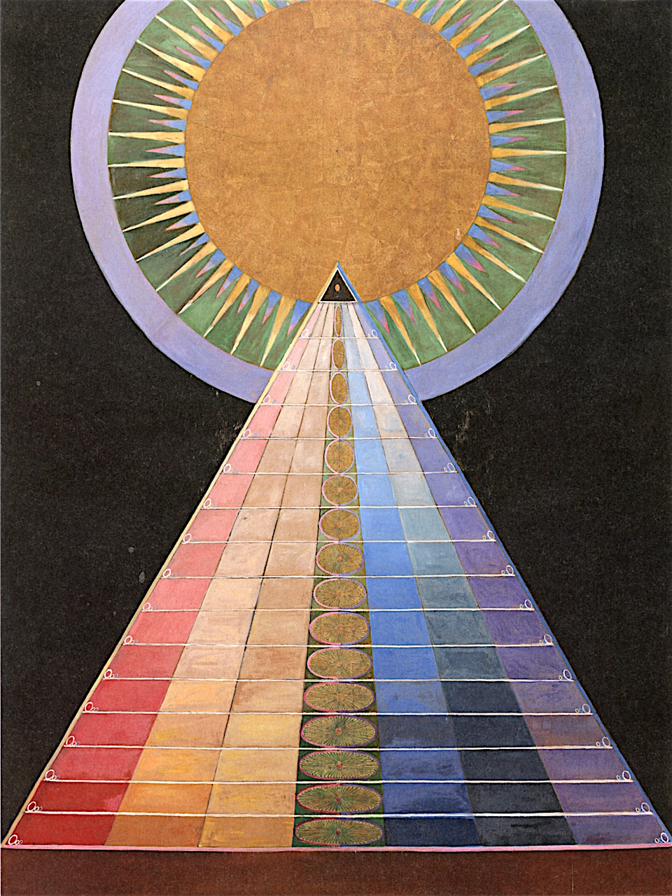 Hilma af Klint Altarpiece No. 1, 1915 237.5 x 179.5 cm Oil and metal leaf on canvas