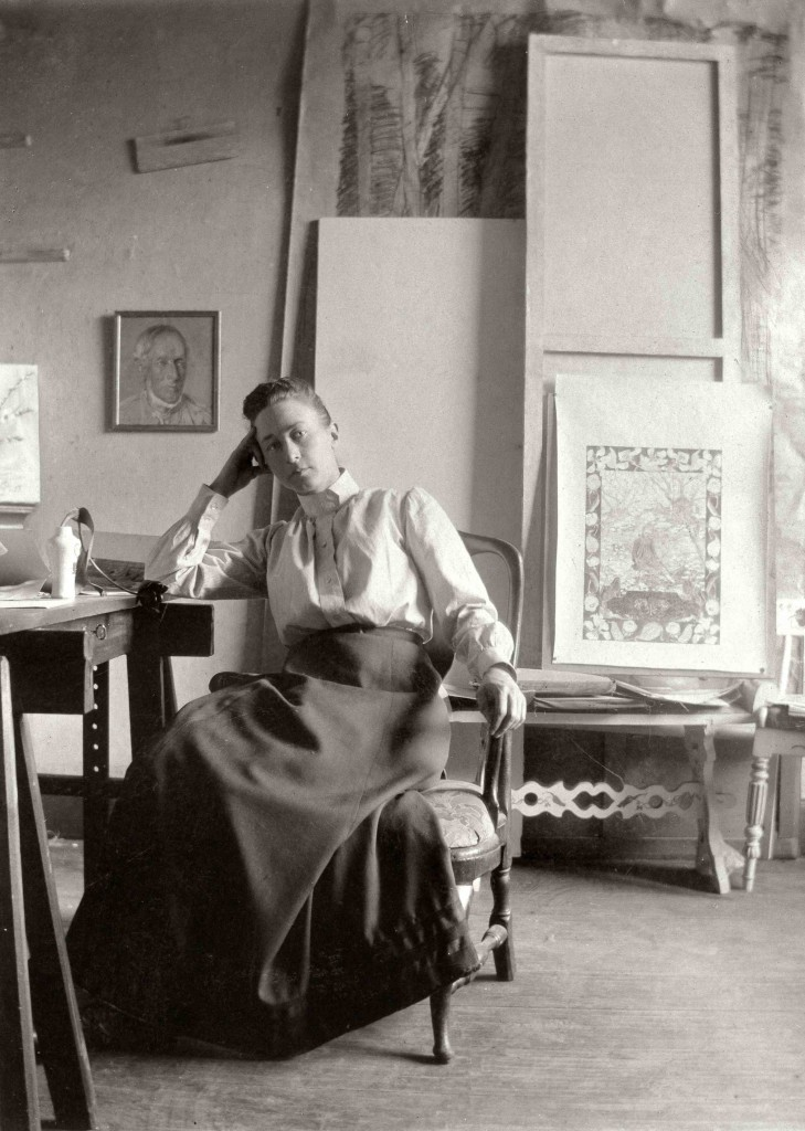Hilma af Klint,  Born: October 26, 1862 Died: October 21, 1944
