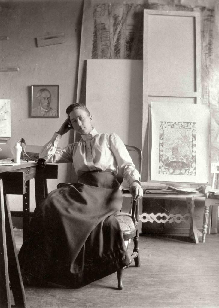 Hilma af Klint,  Born: October 26, 1862 Died: October 21, 1944