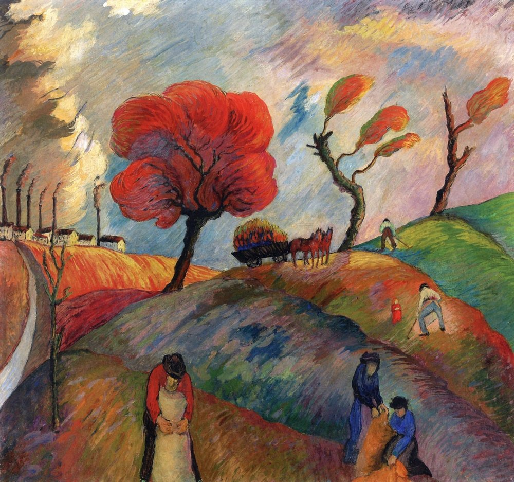 Marianne von Werefkin Ameisenhaufen, 1916 43.8 x 46.9 cm Oil and tempera on paper on board