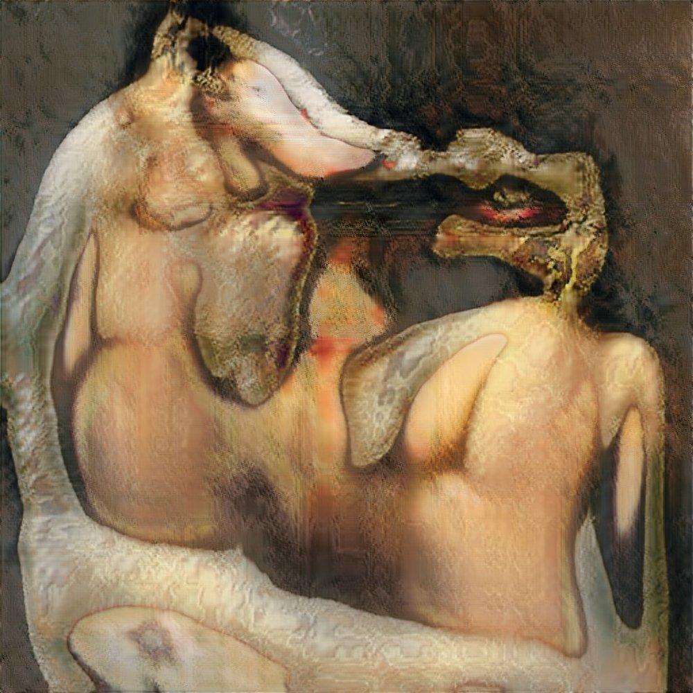 Robbie Barrat AI Generated Nude Portrait #2