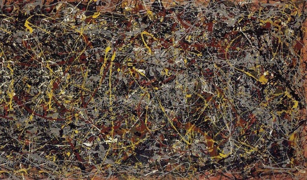 Jackson Pollok  No. 5 , 1948 Oil on Fiberboard 8 ×4 ft