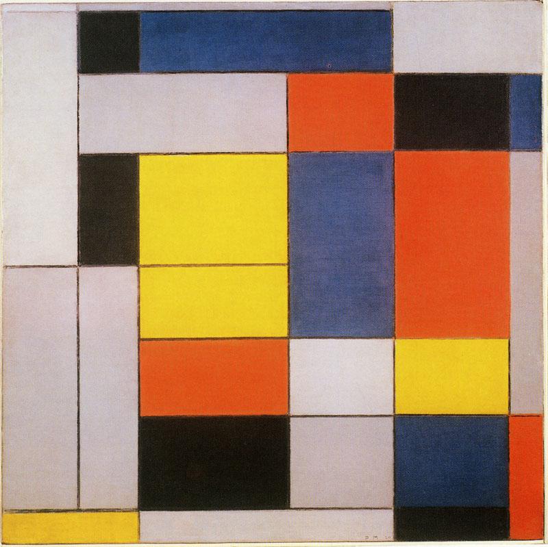 Piet Mondrian  No. VI /COMPOSITION No.II , 1920 Oil on Canvas 100.5 x 101 cm Abstraction Score:0.2121607466