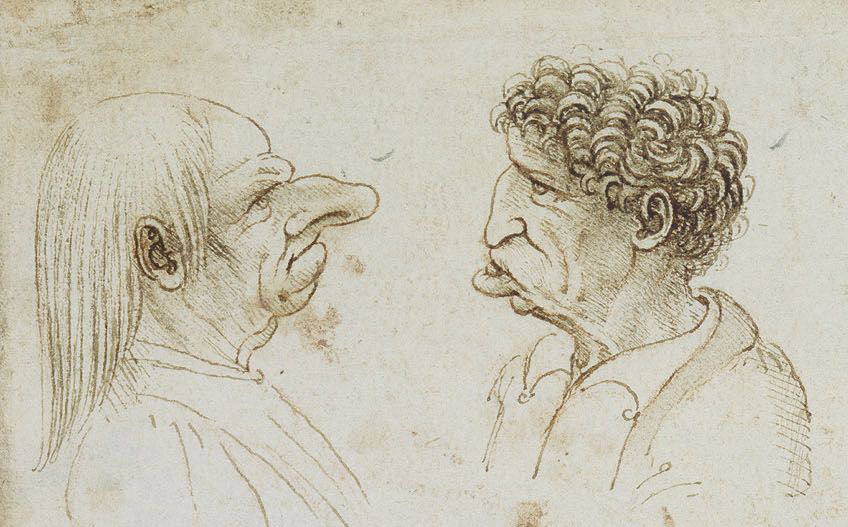 For every masterpiece, there are hundreds of sketches - From the Sketch 5 Grotesque Heads by Da Vinci