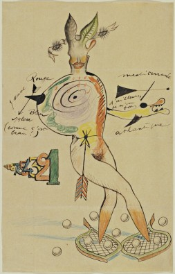 Cadavre Exquis with Yves Tanguy, Joan Miró, Max Morise, Man Ray