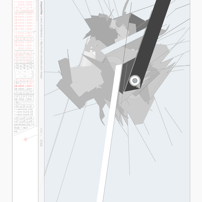 Shapeshifter Sonic Architecture  - Joshua Davis, 2001