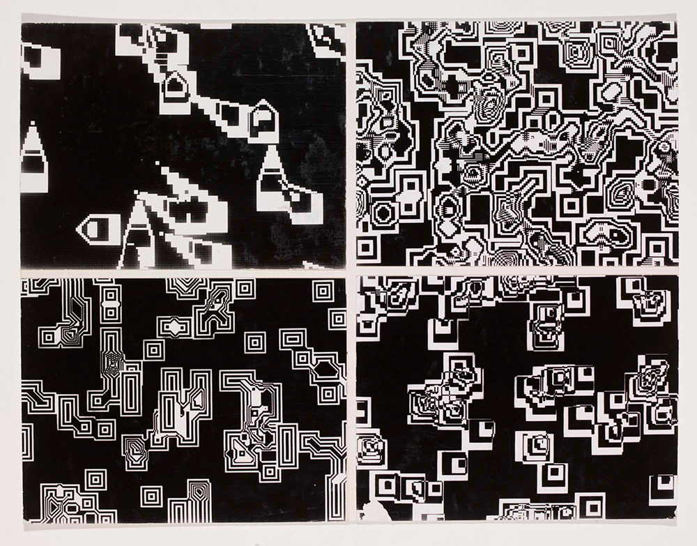 Pixillation , photographic film stills - Lillian Schwartz, 1970