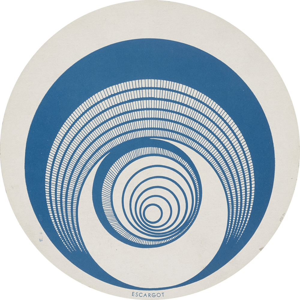 Rotorelief 1 (Optical Disks)  - Marcel Duchamp, 1935