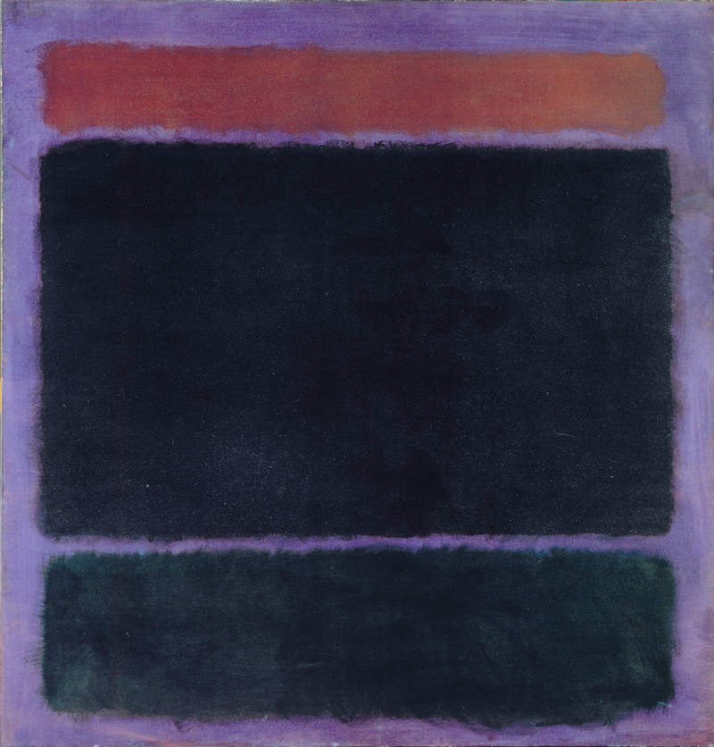 Mark Rothko,  Untitled (Rust, Blacks on Plum) , 1962, oil on canvas, 60 x 57 in