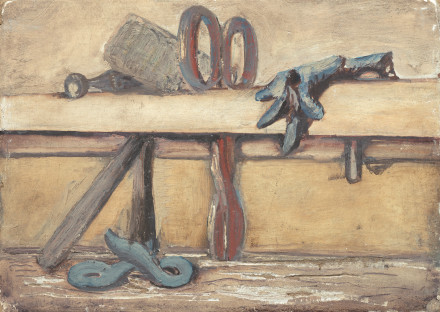 Mark Rothko,  Untitled (still life with mallet, scissors and two gloves),  1938/'39, 7.5 x 12.6 cm
