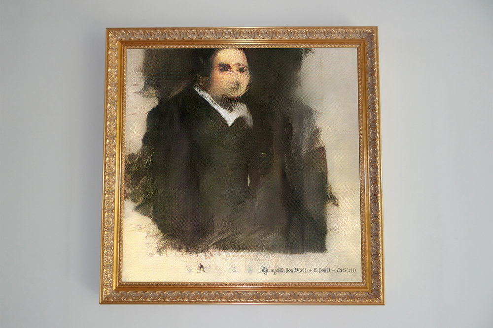 Portrait of Edmond Belamy  to be auctioned at Christie's