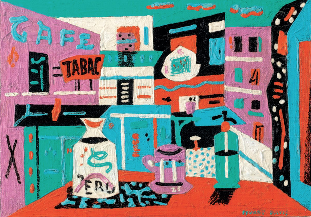 Still Life in the Street,  Stuart Davis, oil on canvas, 1941