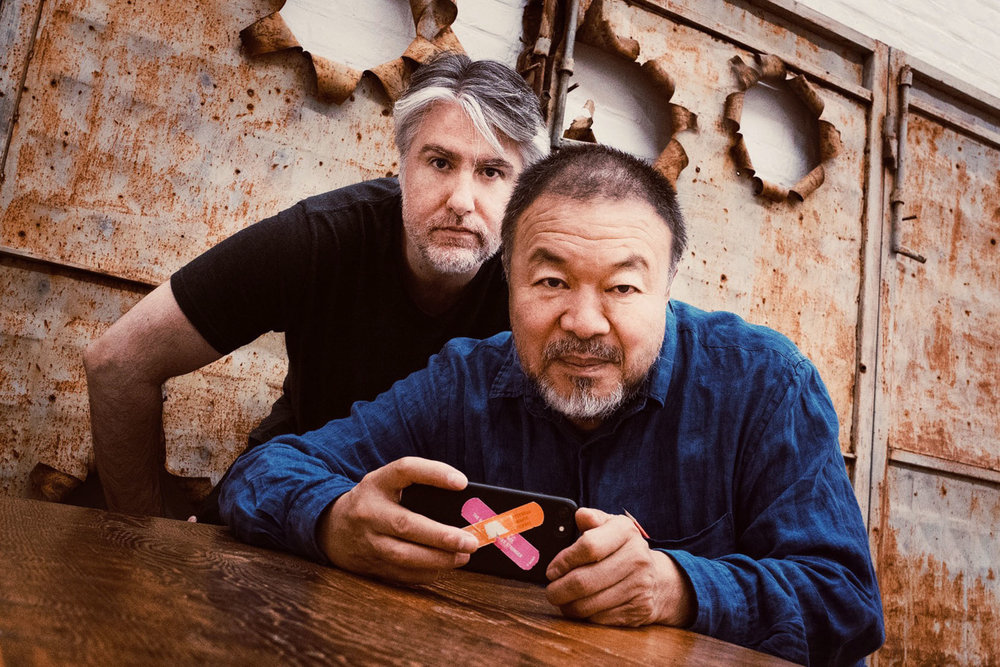 Kevin Abosch (left) and Ai Wei Wei