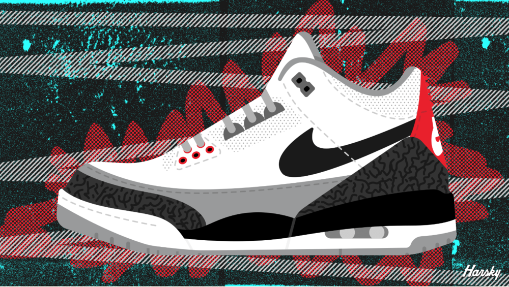 Air Jordan 3 Retro Tinker , Robb Harskamp - 1/1, Artnome digital art collection