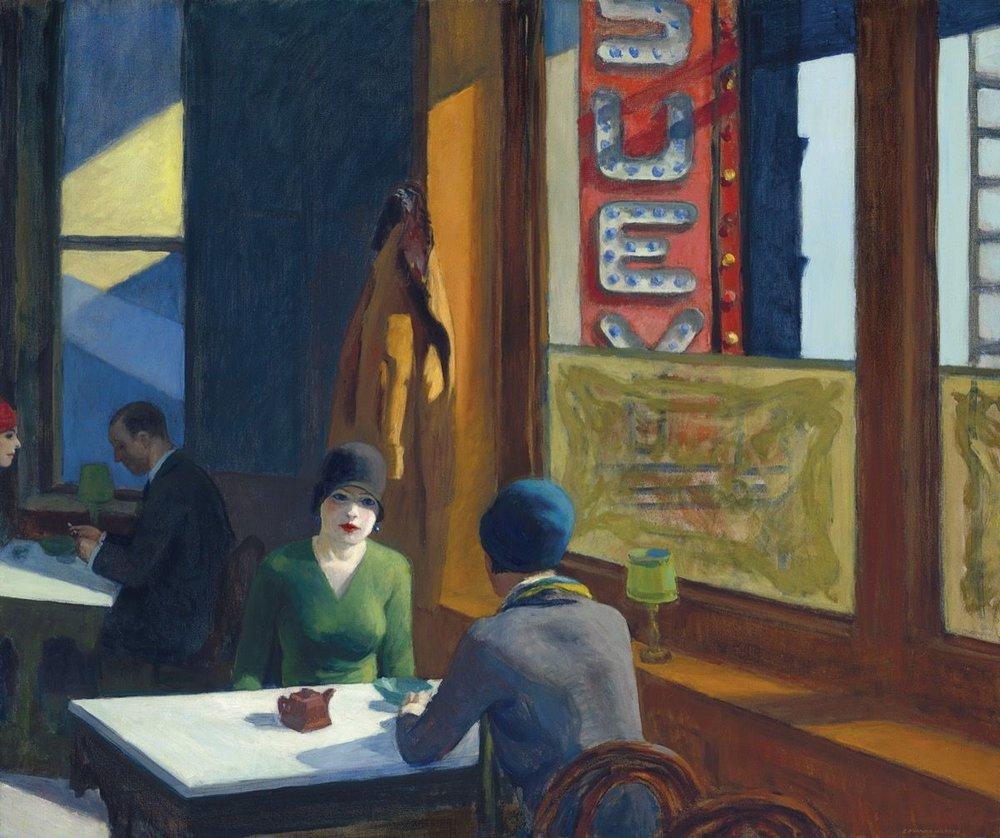 Chop Suey,   Edward Hopper, 1929