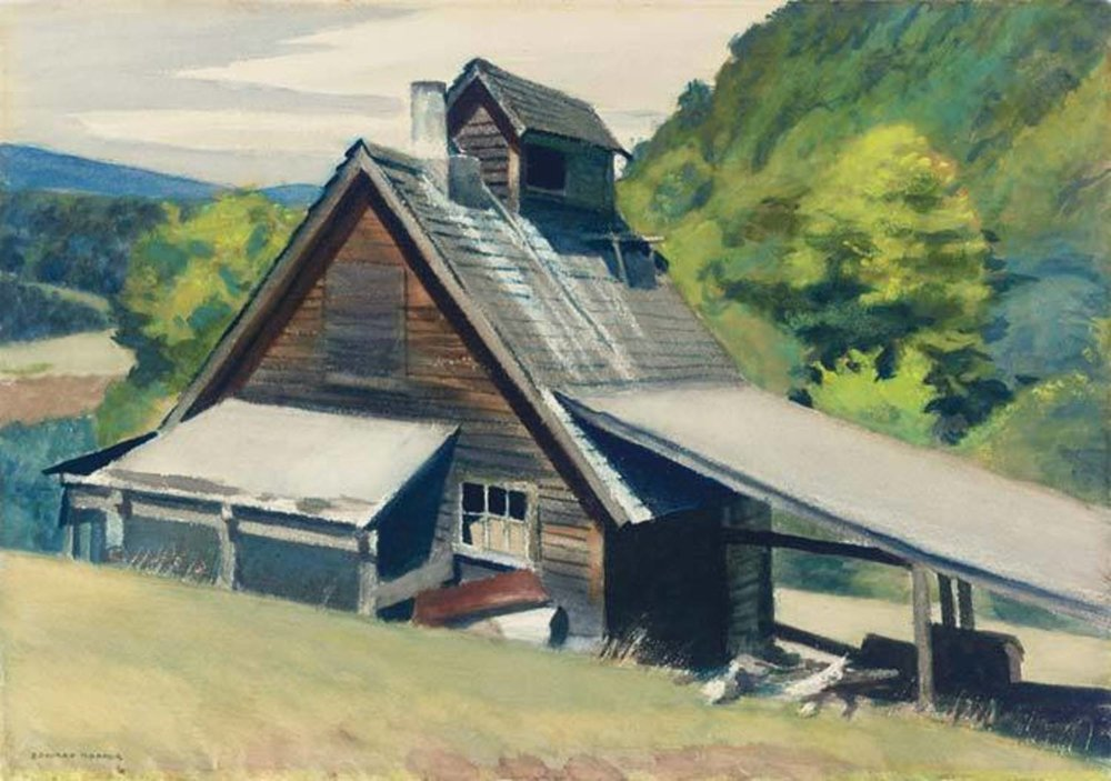 Vermont Sugar House , Edward Hopper, 1938