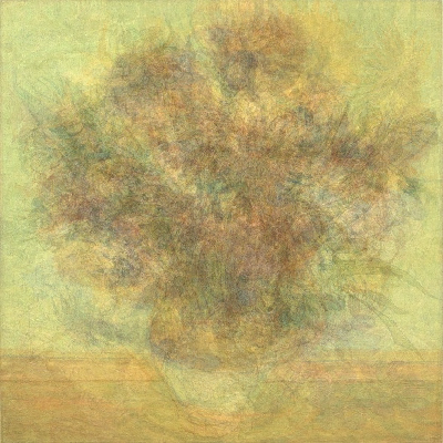 Visual average of the sunflower paintings by Van Gogh