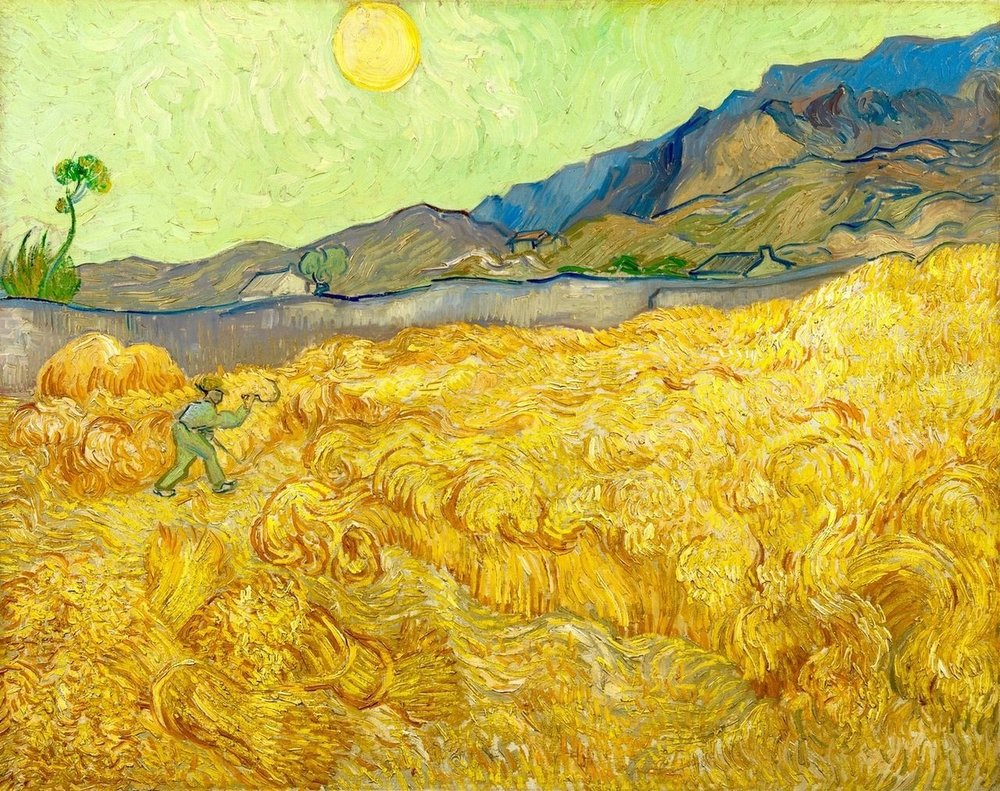 Vincent Van Gogh,  Wheatfield With a Reaper , September, 1889