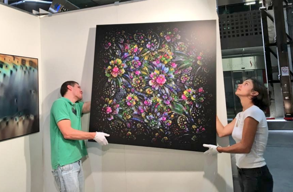 Alex and Iana Mordvintsev Prepping to show their latest work at Art Fair Zurich