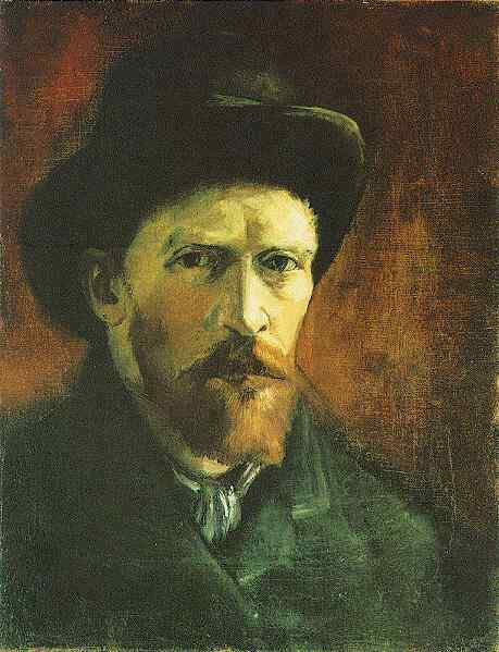 Self-Portrait with Dark Felt Hat,  Vincent Van Gogh, Paris, 1886
