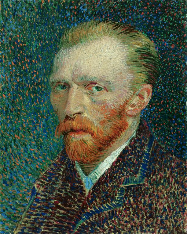 Self-Portrait , Vincent Van Gogh,  Paris,  1887