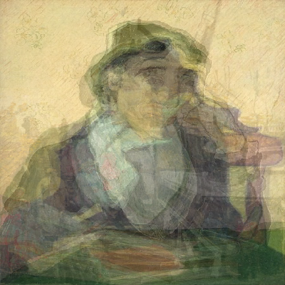 Visual average of every portrait of Madame Ginoux by Van Gogh