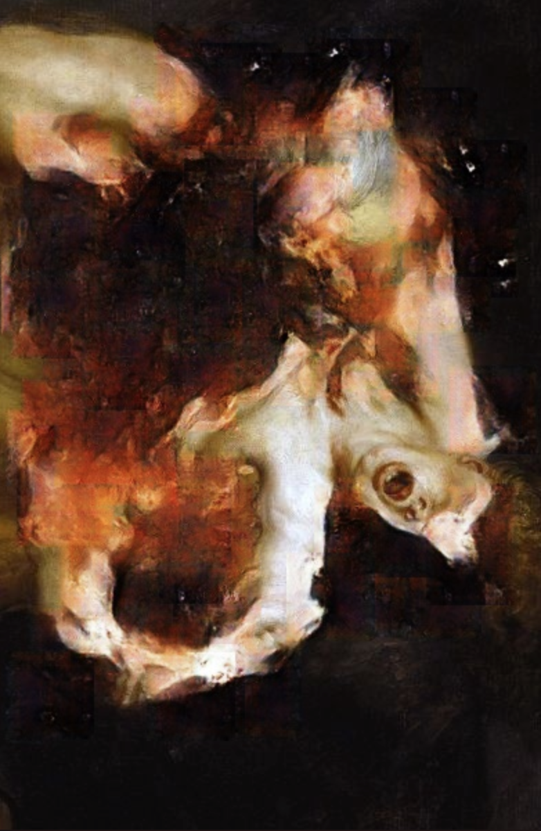Correction of Rubens: Saturn Devouring His Son,  Robbie Barrat, 2019