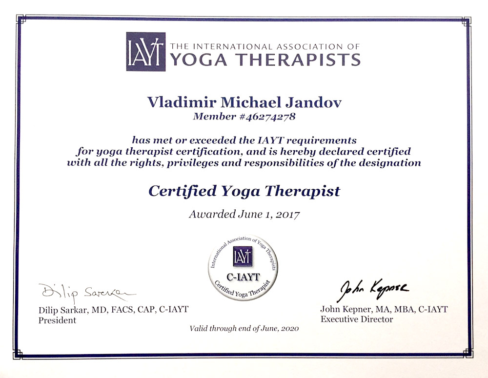 CERTIFICATIONS — IyengarYogi.com