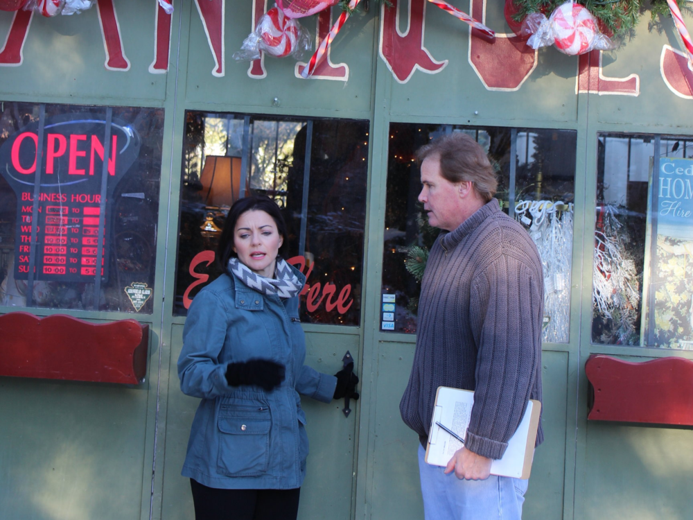Shanna Forrestall with Executive Producer Neil Wells on the set of Breathe crop.png